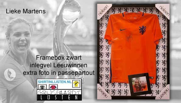 Lieke Martens shirt in lijst