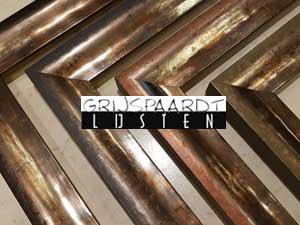 lijsten hoogglans zilver met kleur